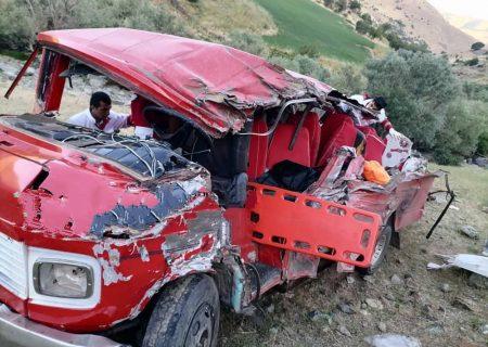 ۱۵ کشته و زخمی در تصادف محور سقز – مریوان