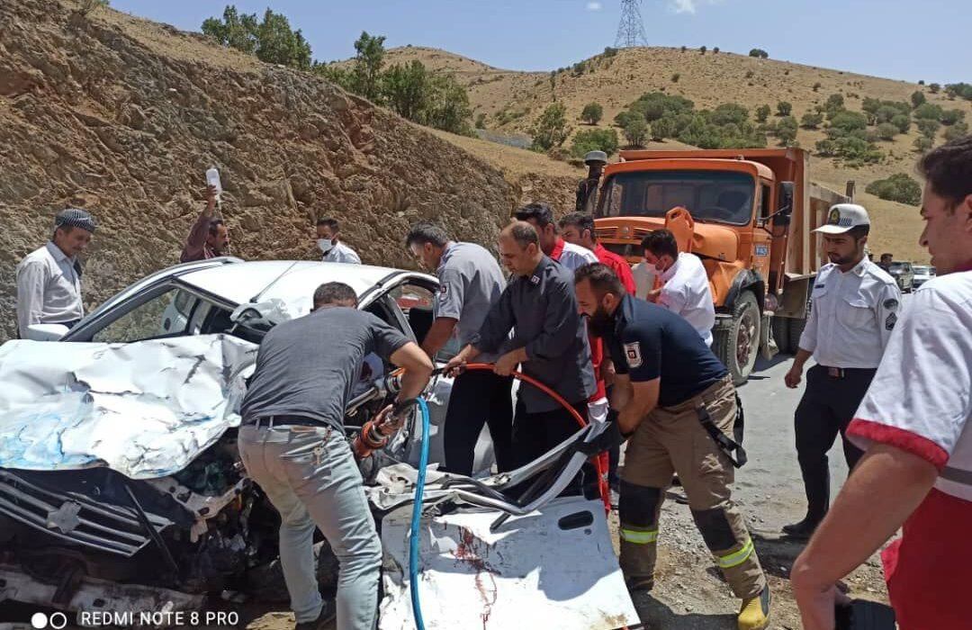 تصادف در جاده مریوان – سنندج سه کشته برجا گذاشت