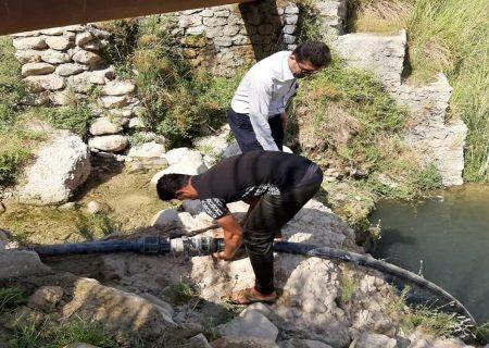 جمع آوری۶ دستگاه موتور پمپاژ آب غیرمجاز در رودخانه سقز