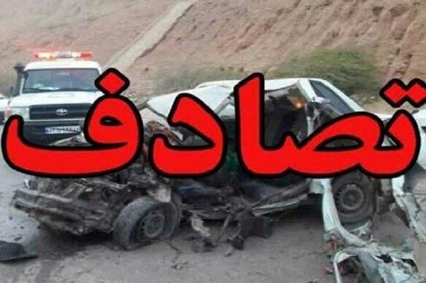 برخورد سه خودرو در محور دهگلان_بلبان آباد
